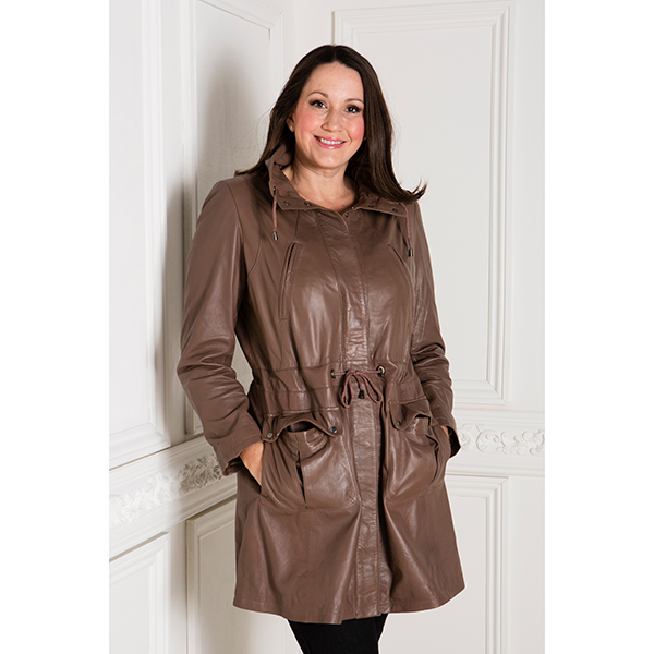 ad067ce1fef Woodland Leather Ladies Drawstring Parka with Cuffs (302597)