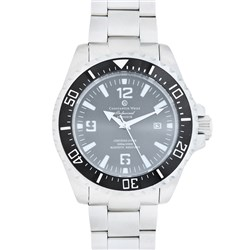 Constantin Weisz Gents Automatic Divers Watch with Unidirectional Bezel and Stainless Steel Bracelet