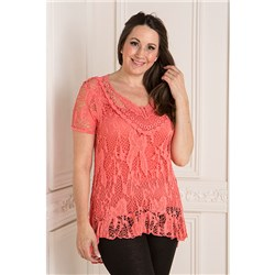 Made in Italy Butterfly Crochet Top