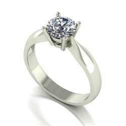 Moissanite 9ct Gold 1.00ct eq Solitaire Ring