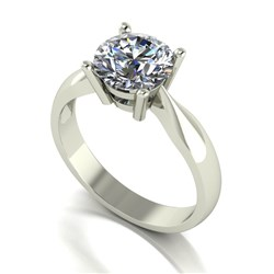 Moissanite 9ct Gold Four Claw 2.00ct Sol