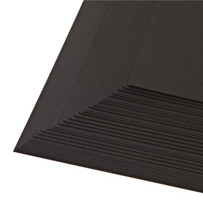 50 Sheets of Black Card 200 GSM