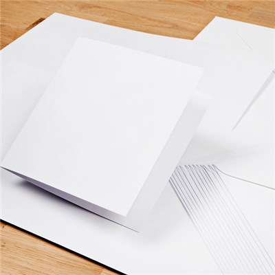 30 White Card Blanks with Envelopes
