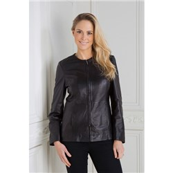 Woodland Leather Ladies Collarless Jacket