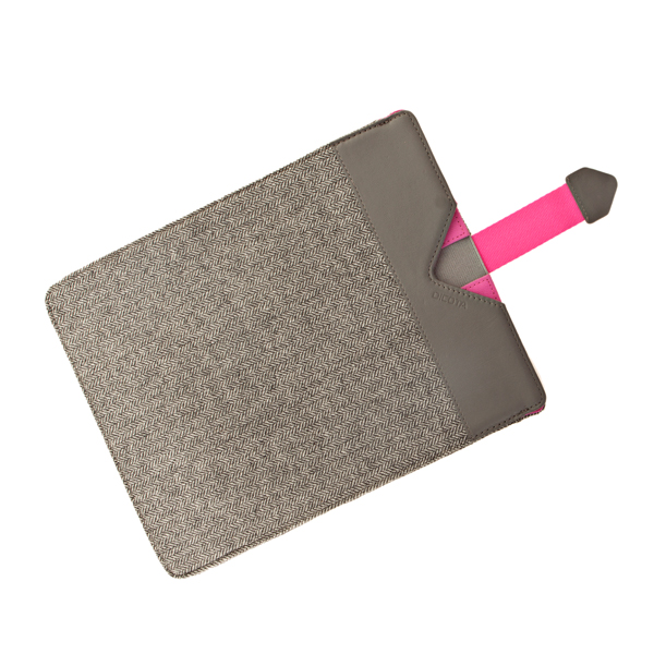 Dicota Grey Wool with Pink detail Protective Sleeve for iPads