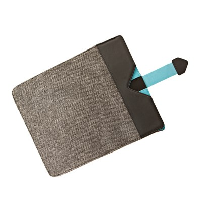 Dicota Grey Wool with Blue detail Protective Sleeve for iPads