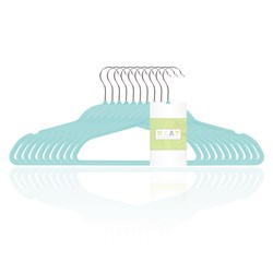 NEAT Flocked Trouser Hanger with Notches - Pack of 10