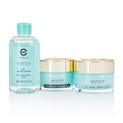 Elizabeth Grant Sensitive 3 Piece Kit - Day Cream 100ml, Night Cream 100ml and 3 in 1 Cleanser 240ml