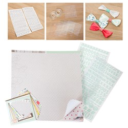 American Crafts Dear Lizzy Polka Dot 12x12 Collection with Create and Craft Clear Foam Pad Kit and FREE Dear Lizzy Polka Dot Embellishments