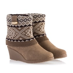 Comfort Wedge Boot With 2 FREE Pairs Of Boot Cuffs Worth 9.99