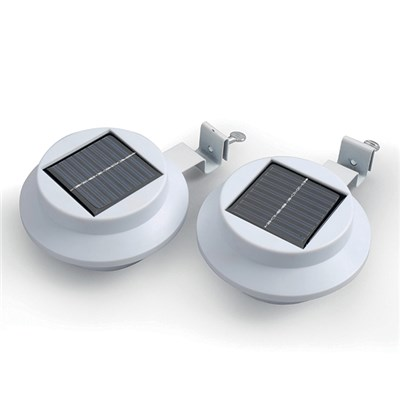 Set of 2 Solar Gutter Lights White