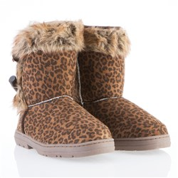 f&s Luxury Faux Fur Toggle Flat Boots