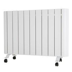 EEPC 1500W Ceramic Aluminium Radiator with Integrated Thermostat and Programmer
