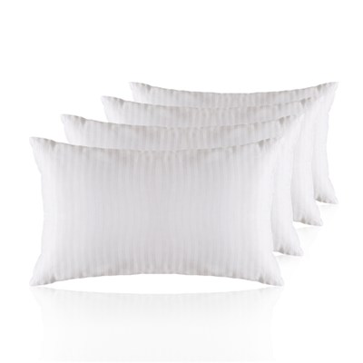 Hotel Quality Satin Stripe Pillows 4 pack
