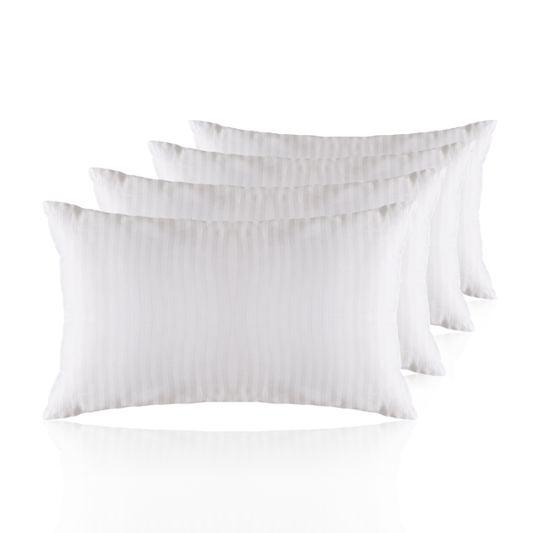 Hotel Quality Satin Stripe Pillows 4 pack No Colour