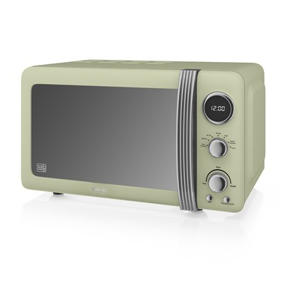 Swan 800W Digital Microwave - Green