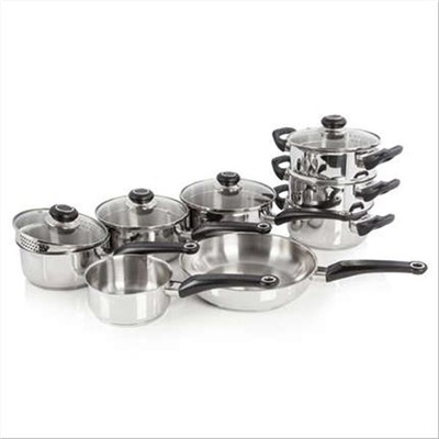 8pce Pan Set S/Steel