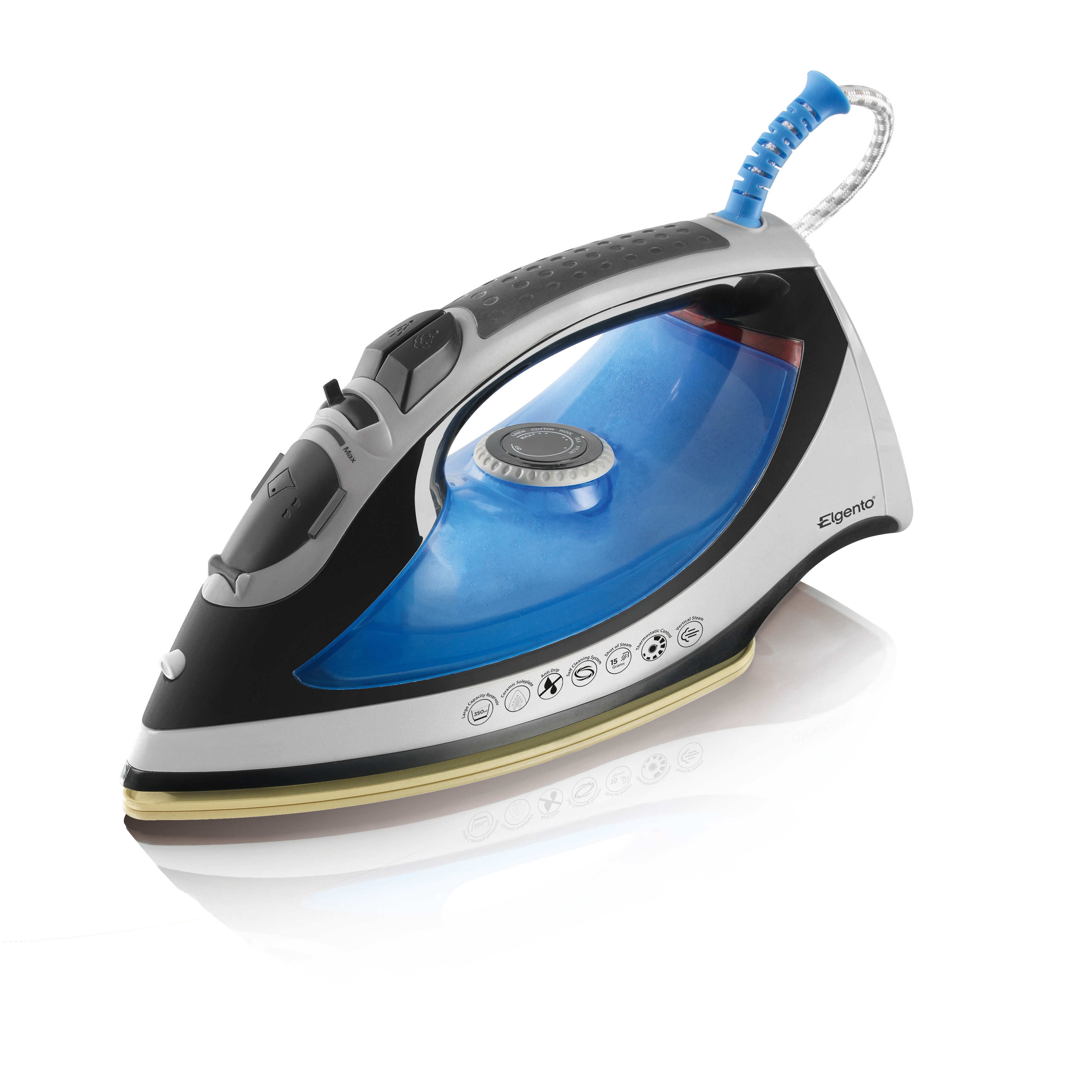 Elgento 2600W Steam Iron / No Colour