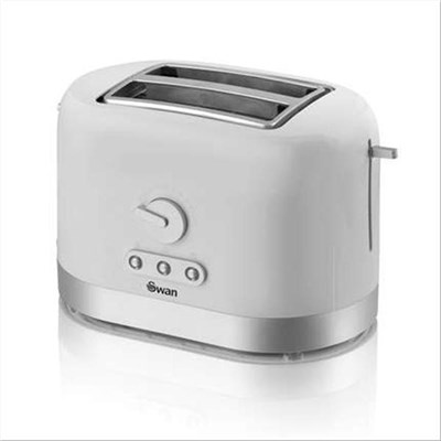 Swan White 2 Slice Toaster - White