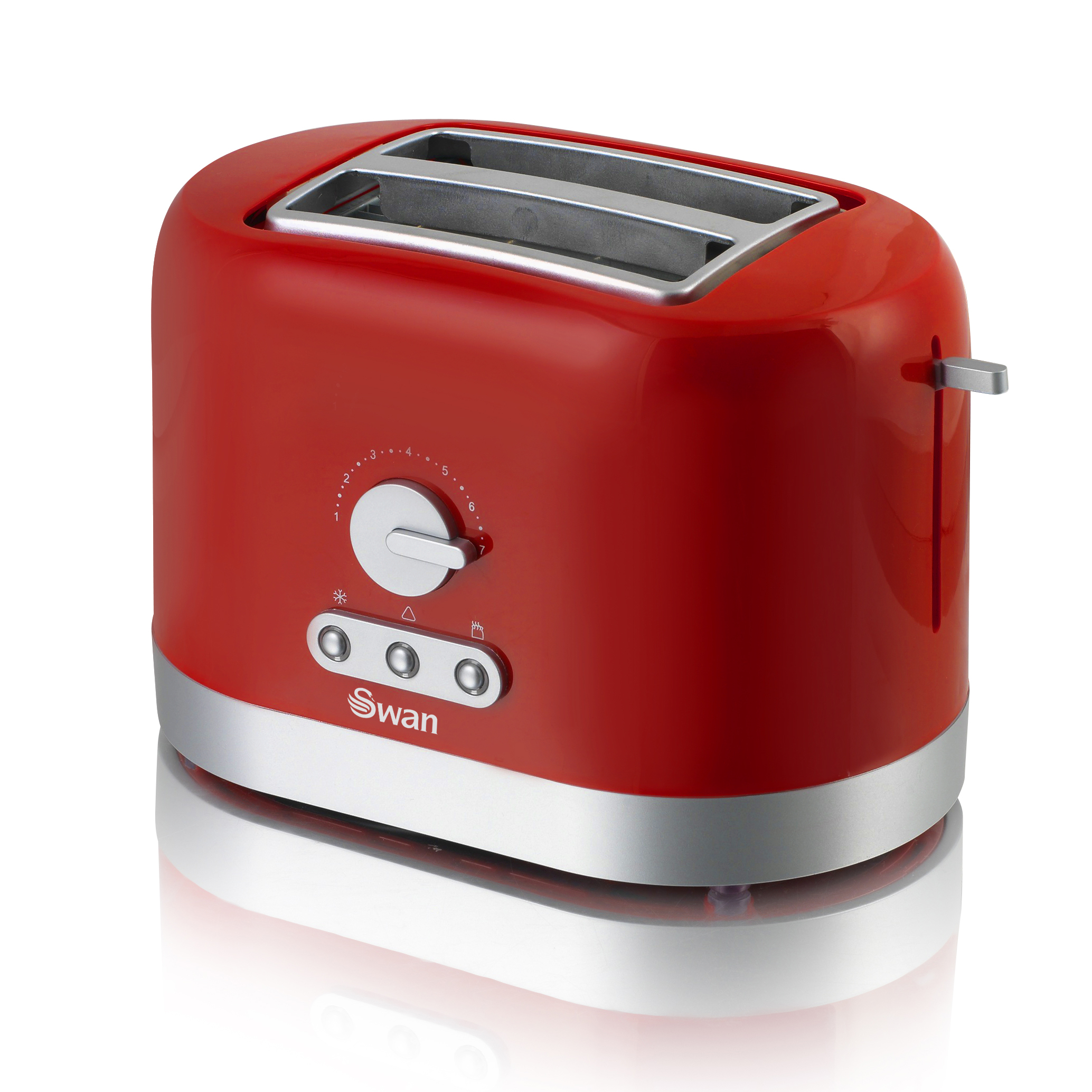 Swan 2 Slice Red Toaster - Red No Colour