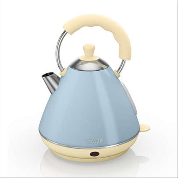 Swan 2 Ltr Pyramid Blue Kettle - Blue