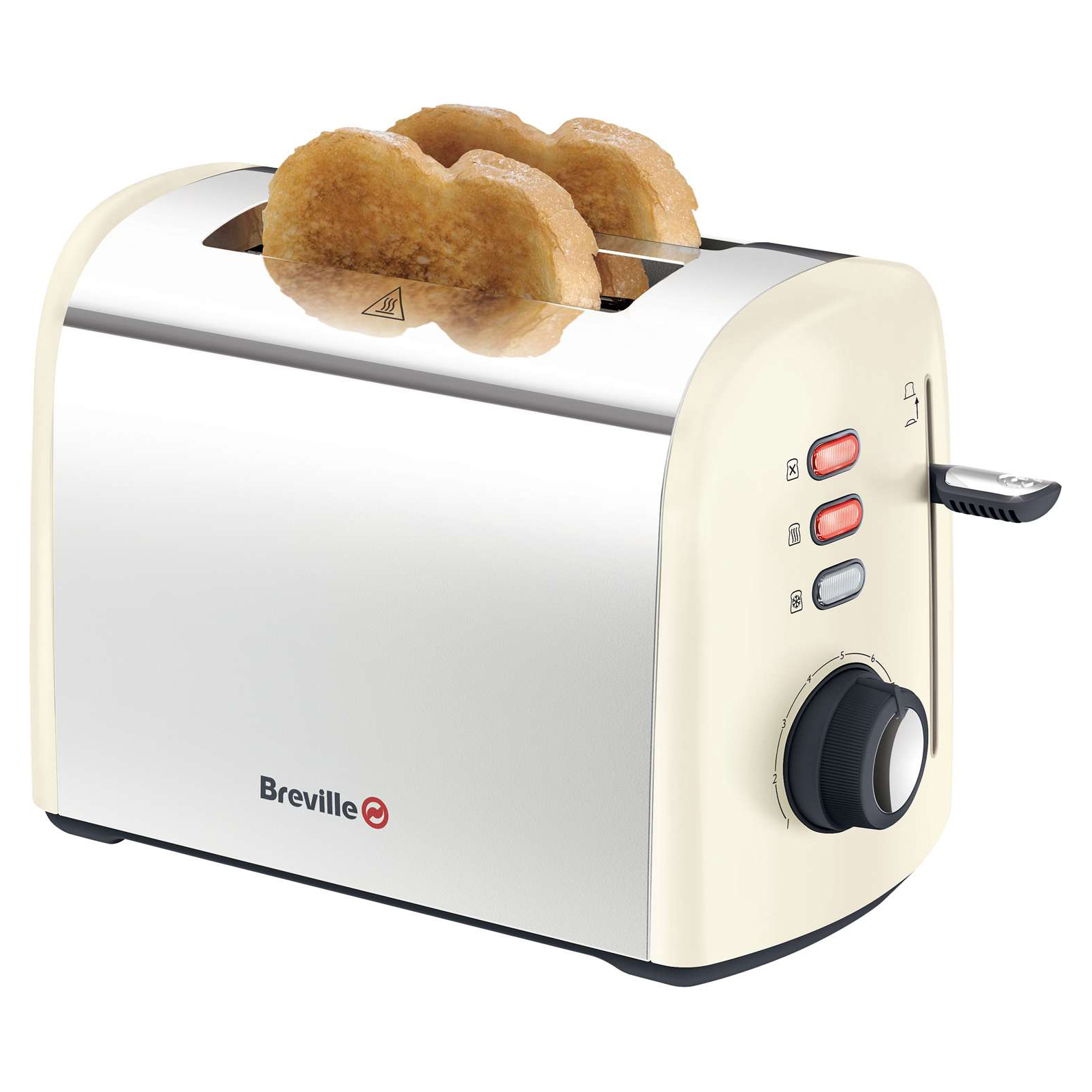 Breville Cream Stainless Steel 2 Slice - Cream No Colour