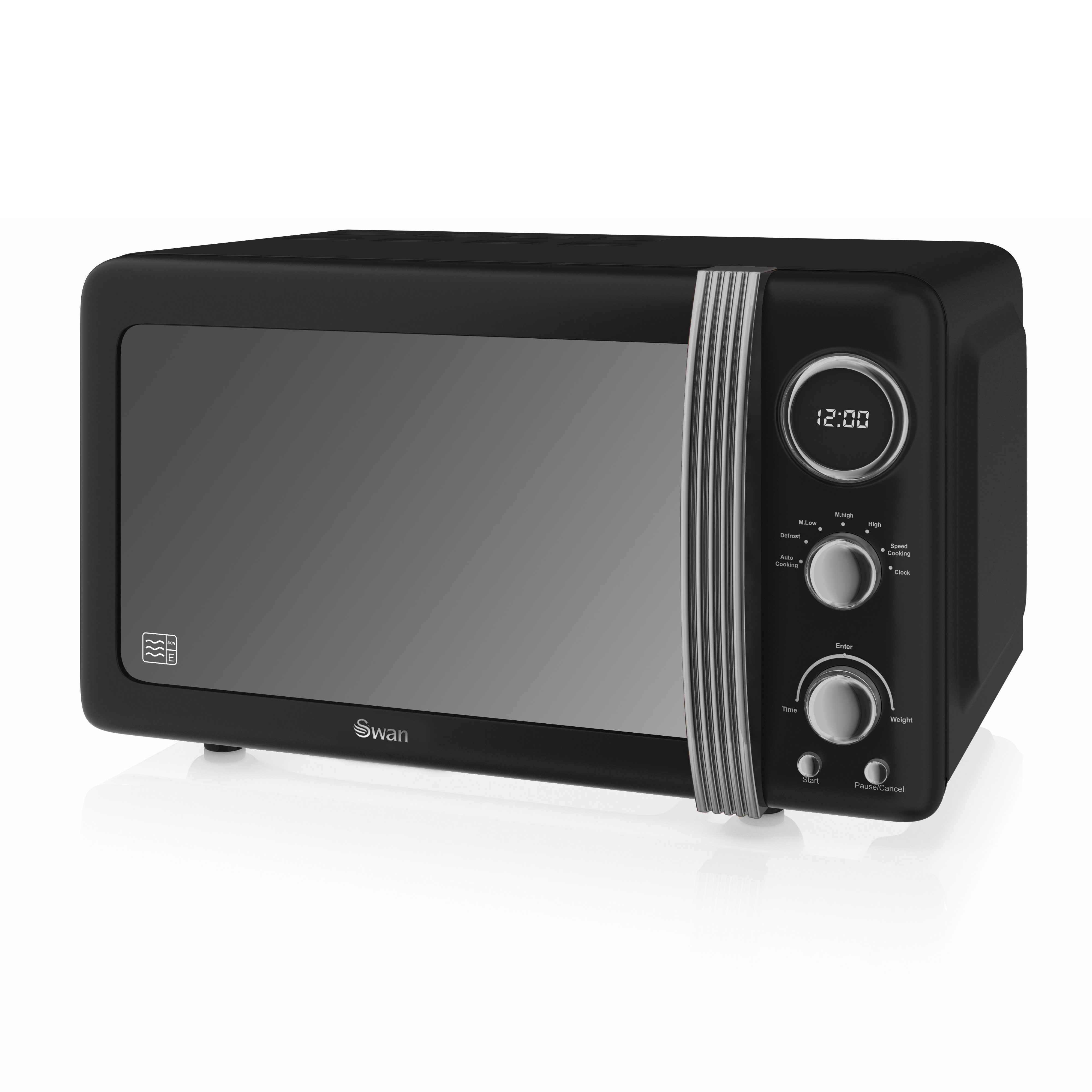 Swan 800W Digital Microwave - Black No Colour
