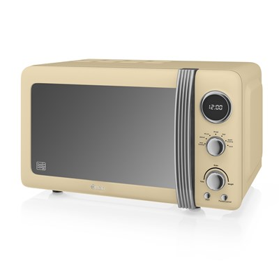 Swan 800W Digital Microwave - Cream