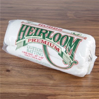 Heirloom Premium Cotton Batting - 45 x 60 inch
