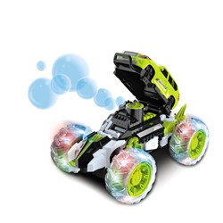 Radio Controlled Bubble Blowing Car with Flashing LED Lights
