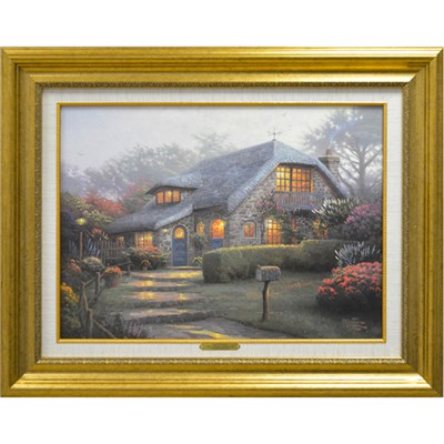 Thomas Kinkade - Lilac Cottage Limited Edition Canvas