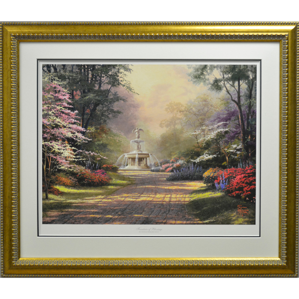 Thomas Kinkade Fountain of Blessings Limited Edition Print No Colour