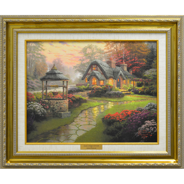 Thomas Kinkade Make a Wish Cottage Open Edition Canvas No Colour