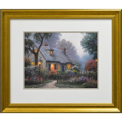 Thomas Kinkade Foxglove Cottage Open Edition Print