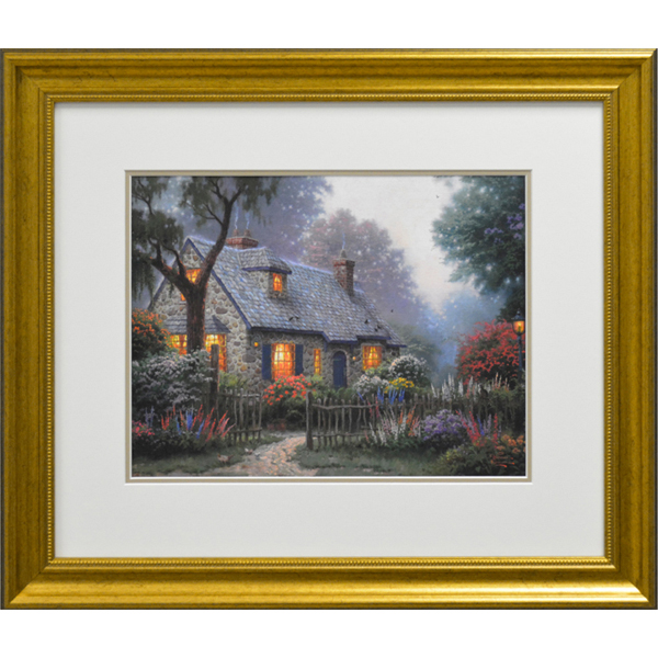 Thomas Kinkade Foxglove Cottage Open Edition Print No Colour