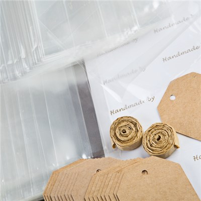 Food Safe Gift Wrap Pack Includes Bags, Labels, Tags and Raffia