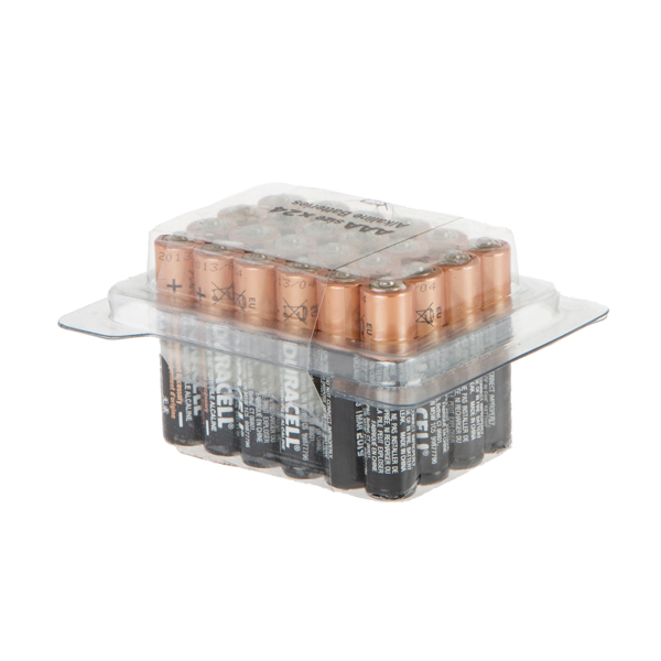 24 AAA Duracell Batteries in Tub No Colour