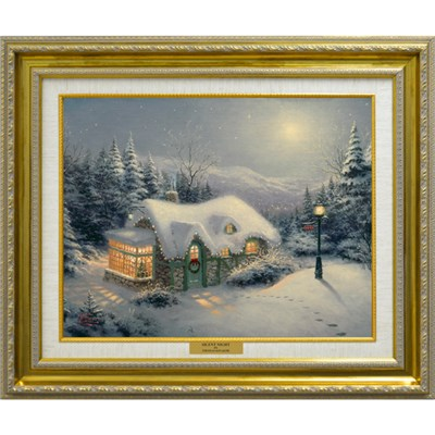 Thomas Kinkade Silent Night Open Edition Canvas Print