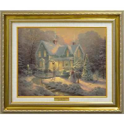 Thomas Kinkade Blessings Of Christmas Open Edition Canvas Print