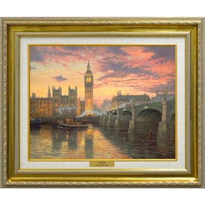 Thomas Kinkade London Open Edition Canvas Print