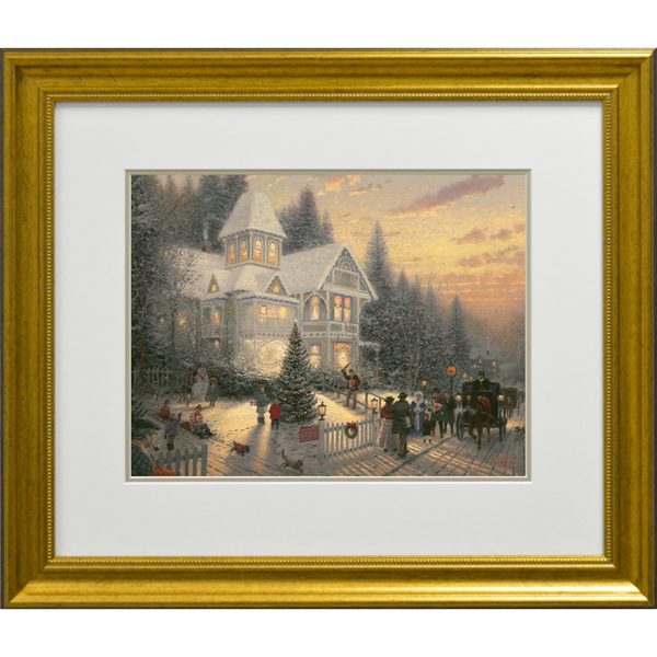 Thomas Kinkade Victorian Christmas Open Edition Print No Colour