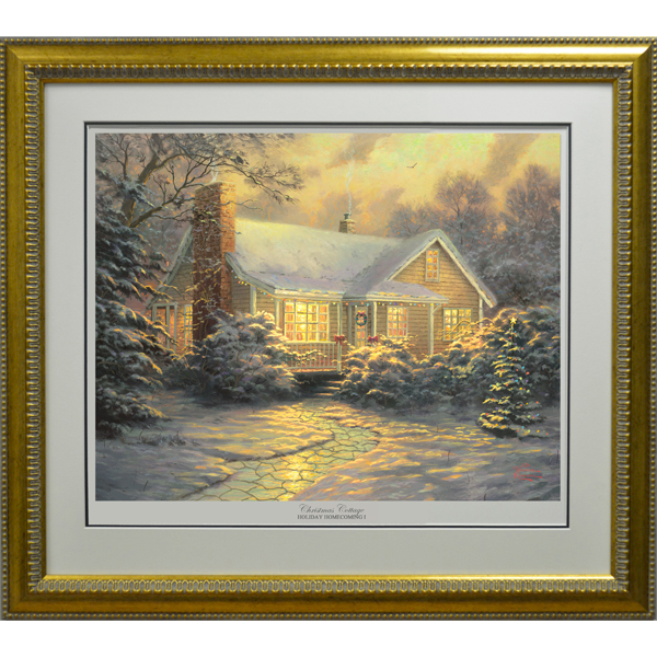 Thomas Kinkade Christmas Cottage Limited Edition Print No Colour