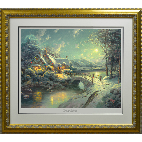 Thomas Kinkade Christmas Moonlight Limited Edition Print No Colour