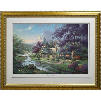 Thomas Kinkade Clocktower Cottage Limited Edition Print