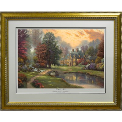 Thomas Kinkade Lakeside Manor Limited Edition Print