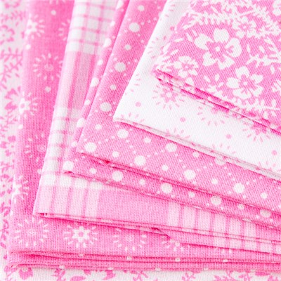 Oxford Pink 100 Percent Cotton Fat Quarters