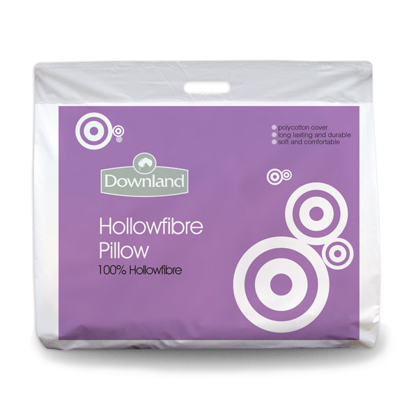 Downland Pack of 4 Hollowfibre Pillows No Colour