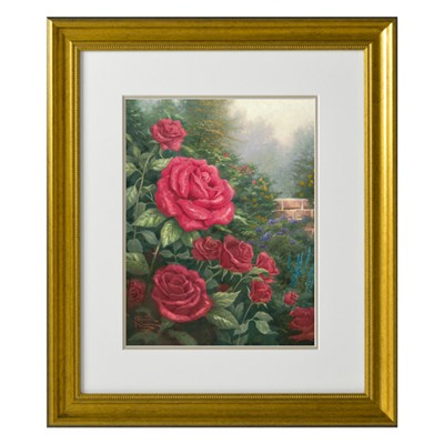 A Perfect Red Roses Open Edition Thomas Kinkade Print