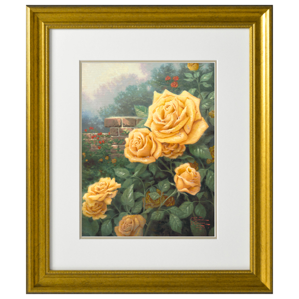 A Perfect Yellow Rose Open Edition Thomas Kinkade Print No Colour