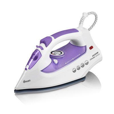 Swan 2600W Ceramic Iron Purple - Purple